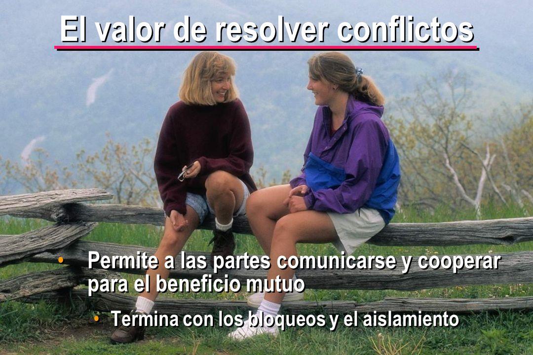 © IEF 28 CRC 4.2.3 Permite a las partes comunicarse y cooperar para el beneficio mutuo Termina con los bloqueos y el aislamiento El valor de resolver