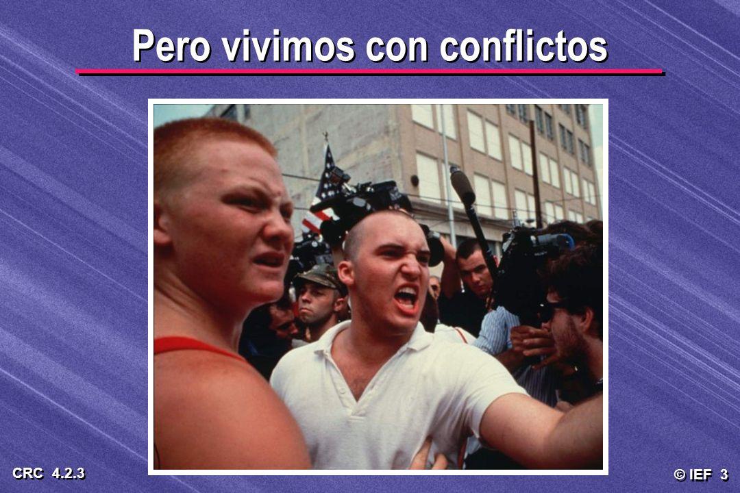 © IEF 3 CRC 4.2.3 Pero vivimos con conflictos