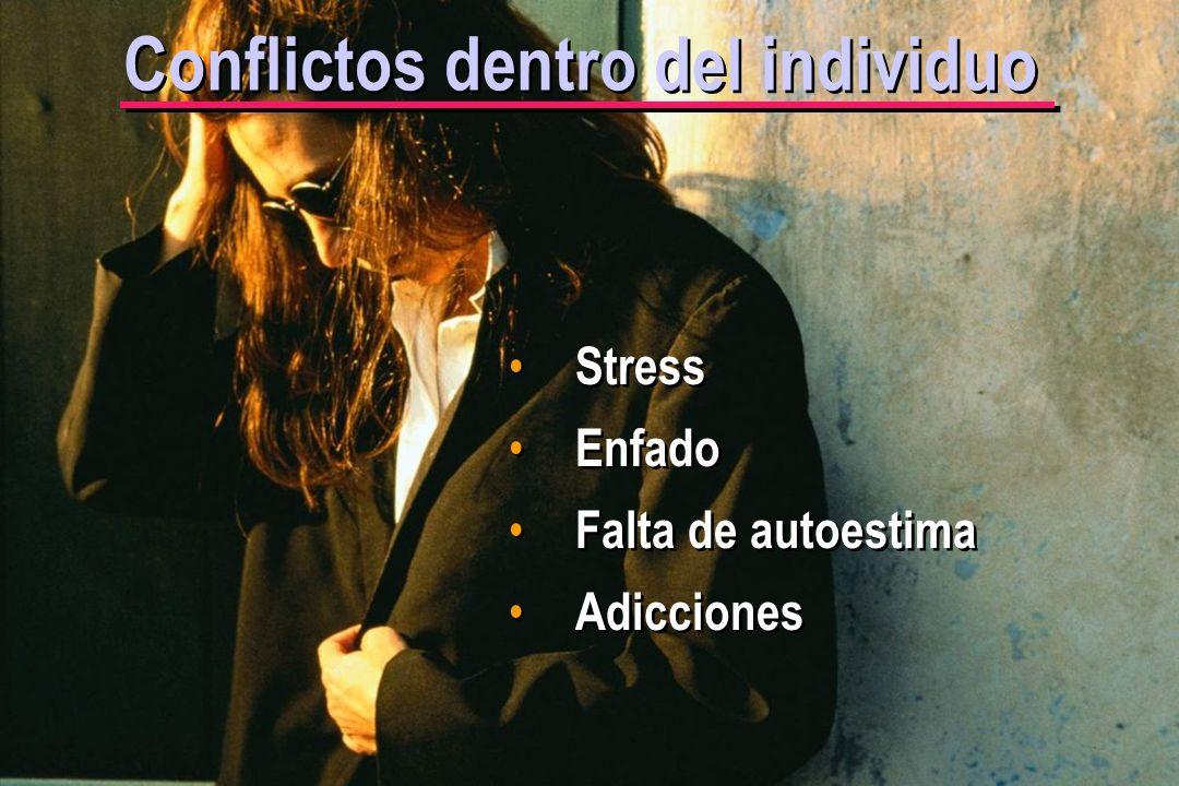 © IEF 4 CRC 4.2.3 Conflictos dentro del individuo Stress Enfado Falta de autoestima Adicciones
