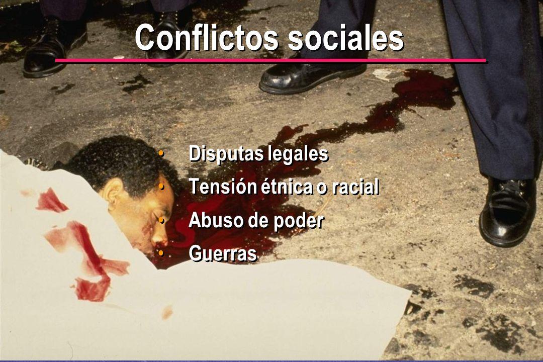 © IEF 6 CRC 4.2.3 Conflictos sociales Disputas legales Tensión étnica o racial Abuso de poder Guerras