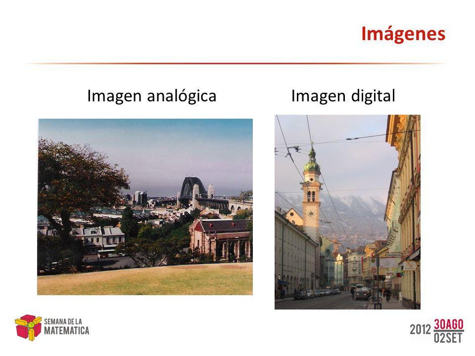 Imágenes Imagen analógicaImagen digital
