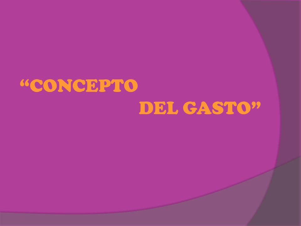 CONCEPTO DEL GASTO
