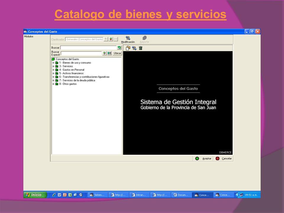 Catalogo de bienes y servicios