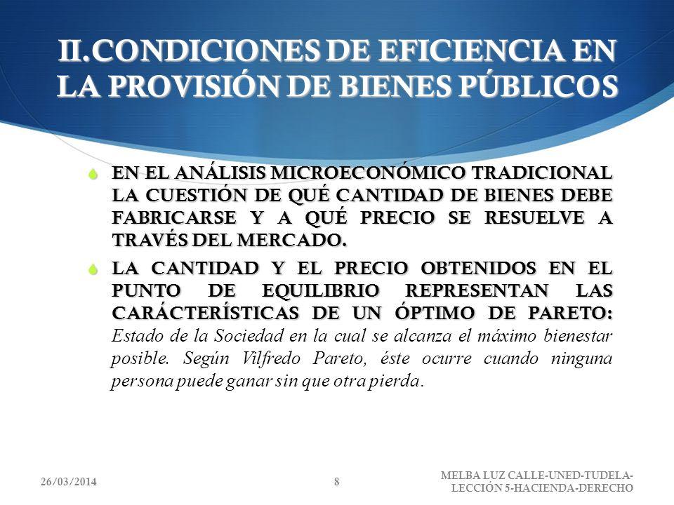 II.CONDICIONES DE EFICIENCIA EN LA PROVISIÓN DE BIENES PÚBLICOS EN EL ANÁLISIS MICROECONÓMICO TRADICIONAL LA CUESTIÓN DE QUÉ CANTIDAD DE BIENES DEBE F