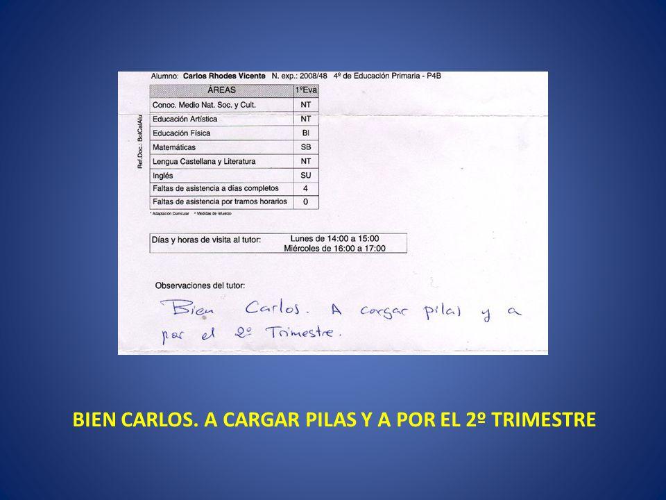 BIEN CARLOS. A CARGAR PILAS Y A POR EL 2º TRIMESTRE