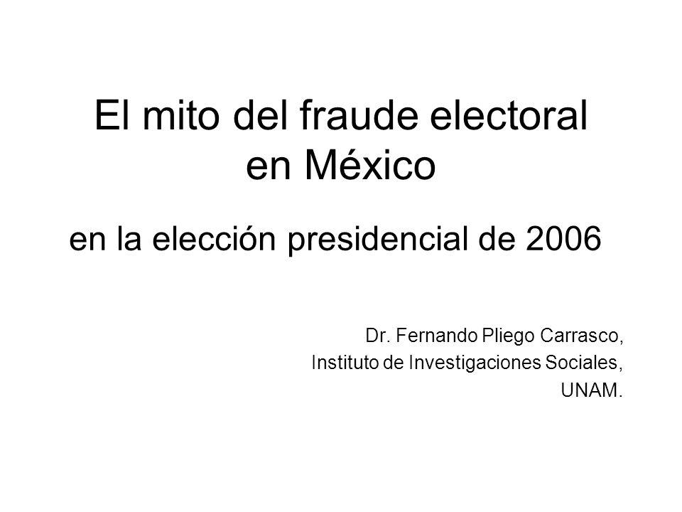 El mito del fraude electoral en México Dr.