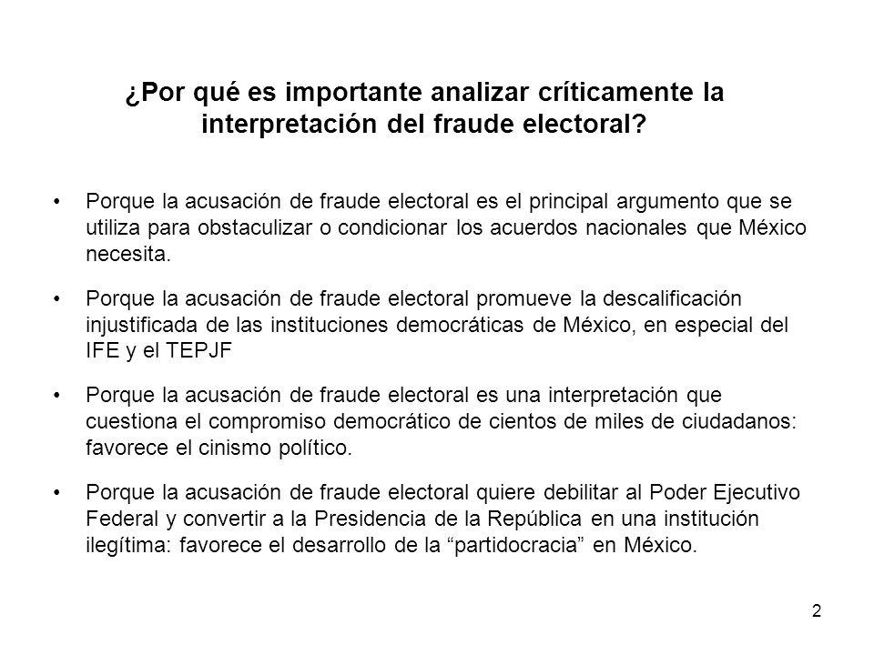 2 ¿Por qué es importante analizar críticamente la interpretación del fraude electoral.