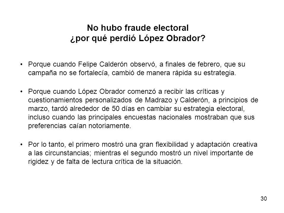 30 No hubo fraude electoral ¿por qué perdió López Obrador.