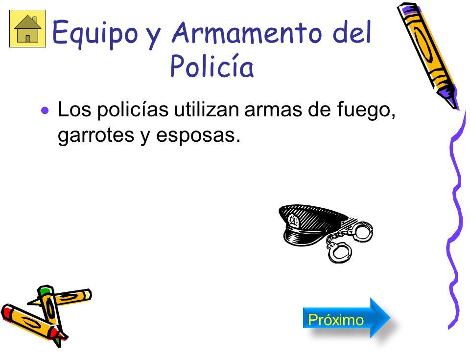 El policía El policía utiliza su uniforme de color azul. Próximo