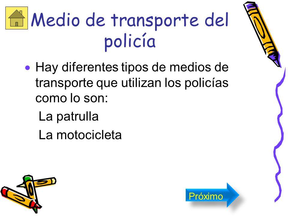 Equipo y Armamento del Policía Los policías utilizan armas de fuego, garrotes y esposas. Próximo