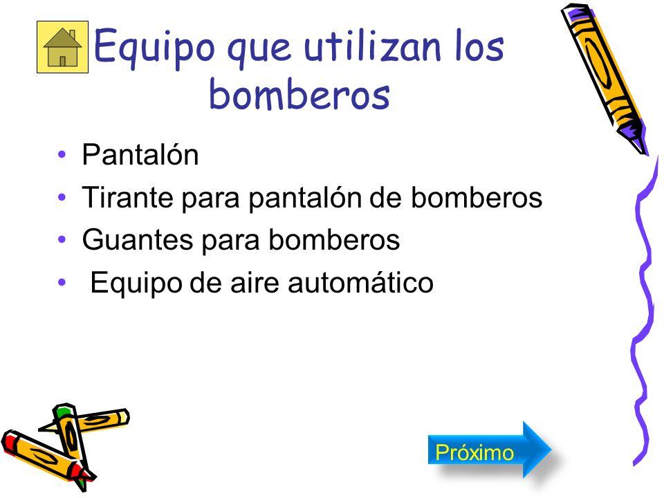 Equipo que utilizan los bomberos Botas Capucha para bomberos Casco Chaquetón Próximo