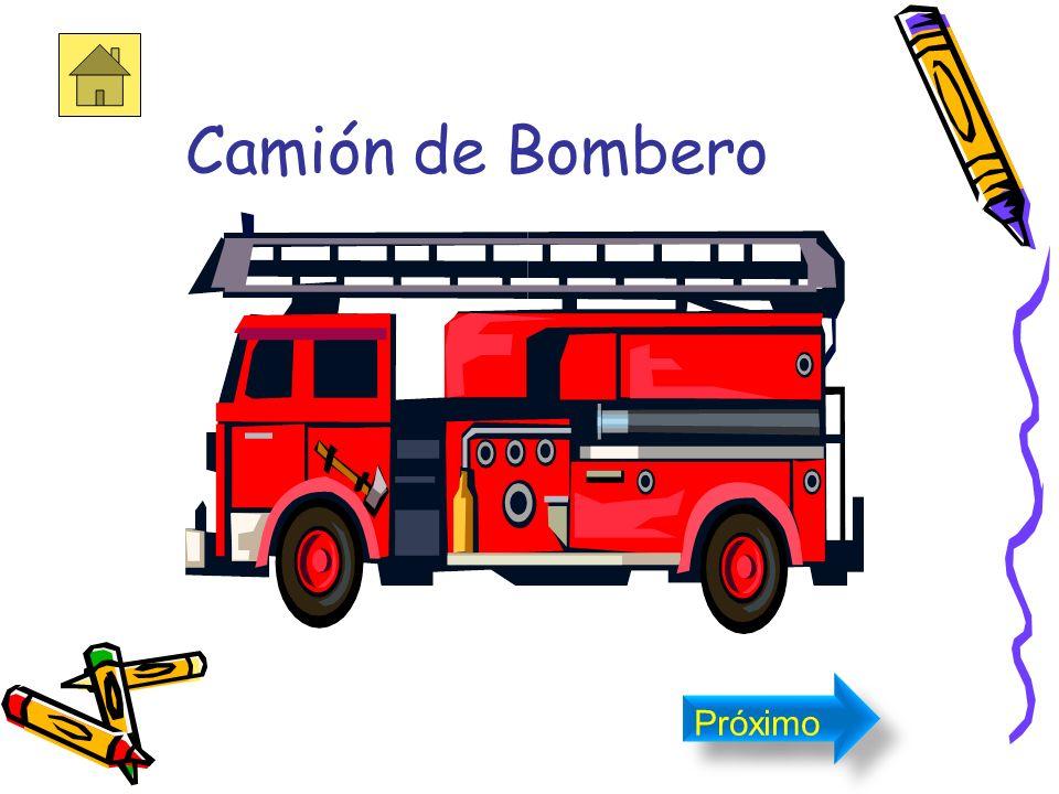 El camión de bombero El camión de bomberos es de color rojo. Próximo