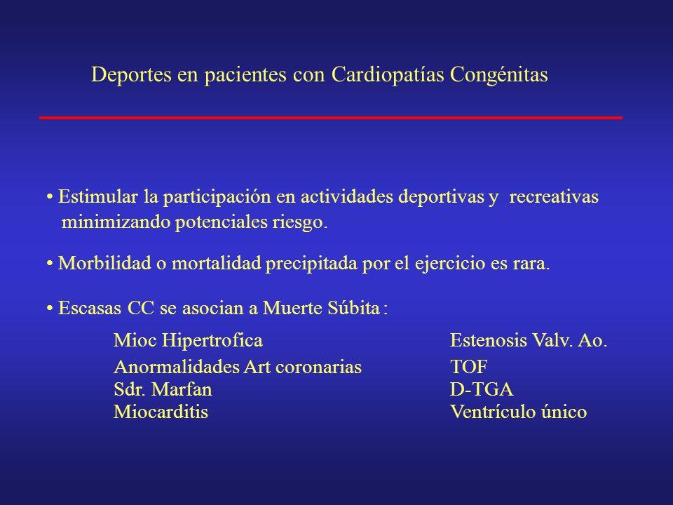TIPOS DE DEFECTOS CONGENITOS X.- Anomalías coronarias congénitas: Asociado muerte súbita y deporte.
