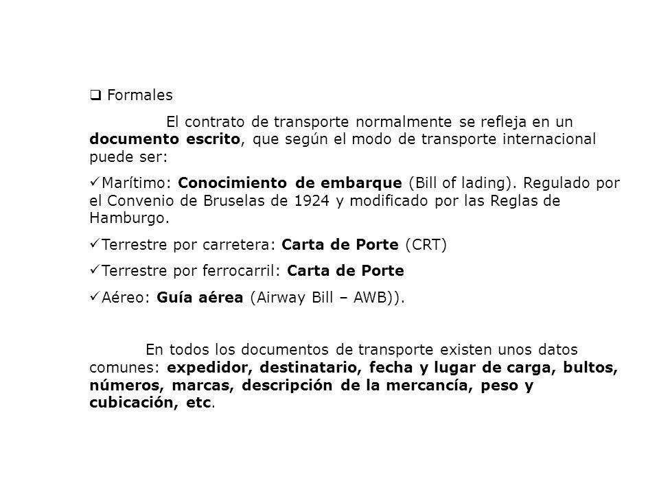 FOREIGN AFFAIRS Consulting Group Documentos de Transporte Internacional TERRESTRE Carta de Porte (CRT) Funciones básicas: Prueba del contrato de transporte terrestre Prueba de recibo de la mercadería Factura de flete