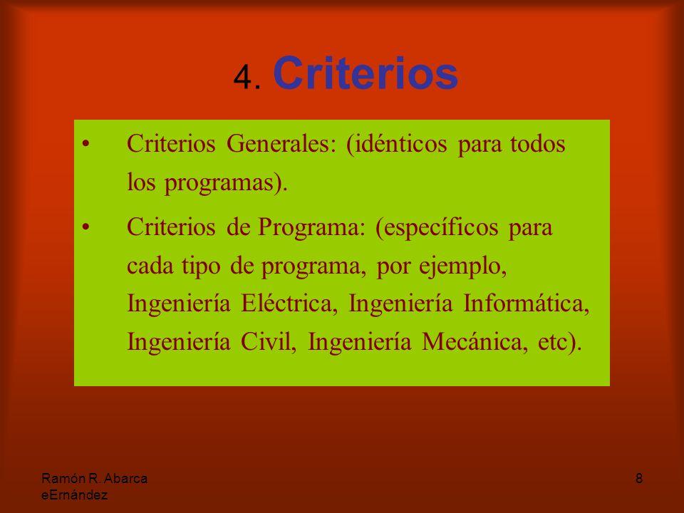 8 4. Criterios Criterios Generales: (idénticos para todos los programas).