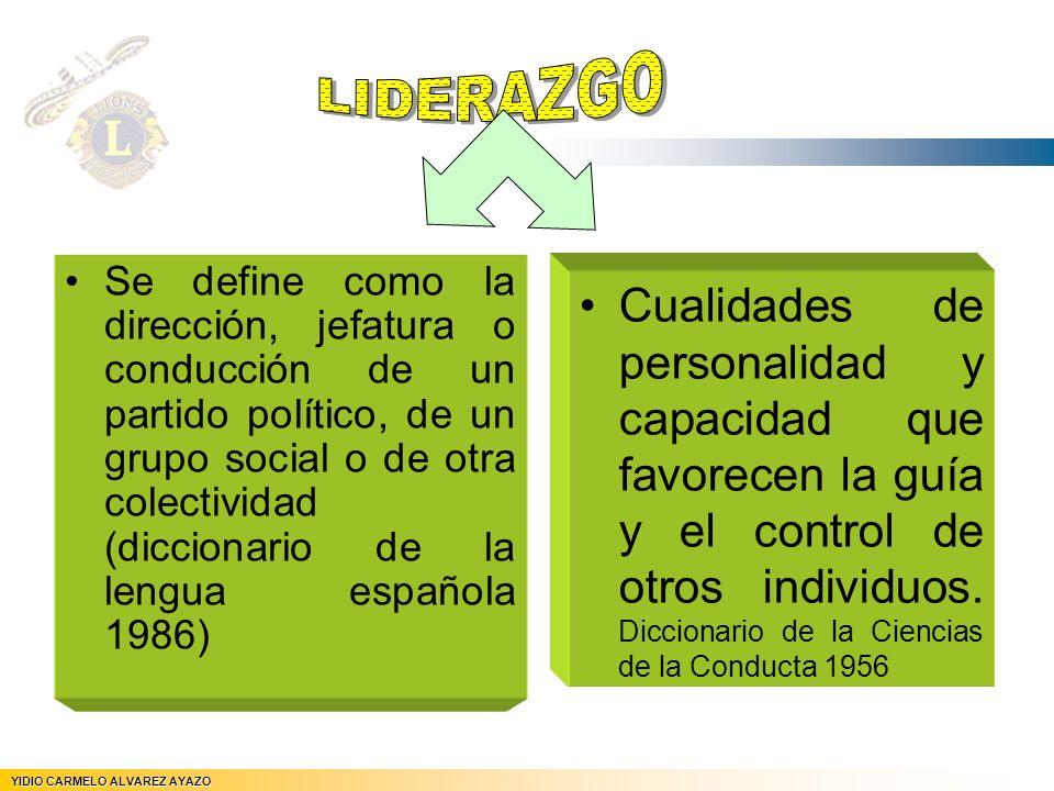 Se define como la dirección, jefatura o conducción de un partido político, de un grupo social o de otra colectividad (diccionario de la lengua español