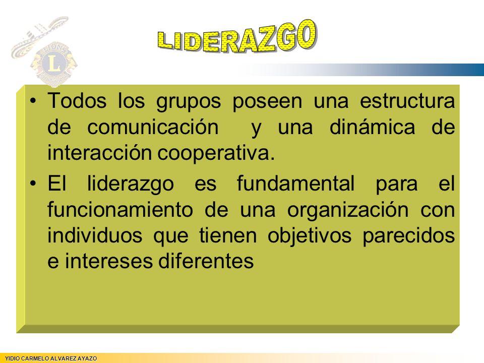 Todos los grupos poseen una estructura de comunicación y una dinámica de interacción cooperativa. El liderazgo es fundamental para el funcionamiento d