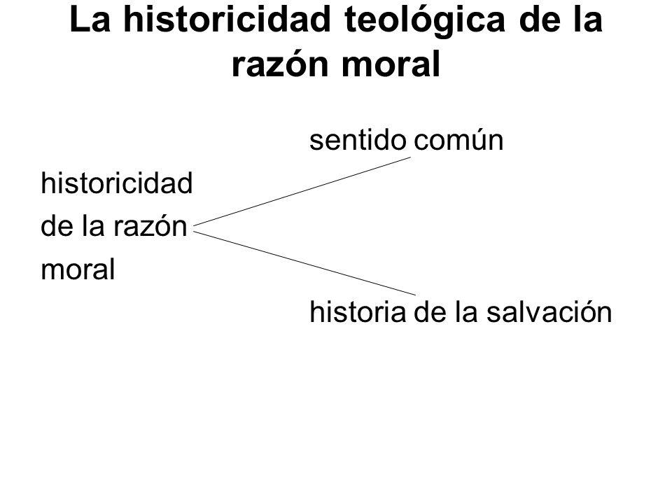 La historicidad teológica de la razón moral sentido común historicidad de la razón moral historia de la salvación