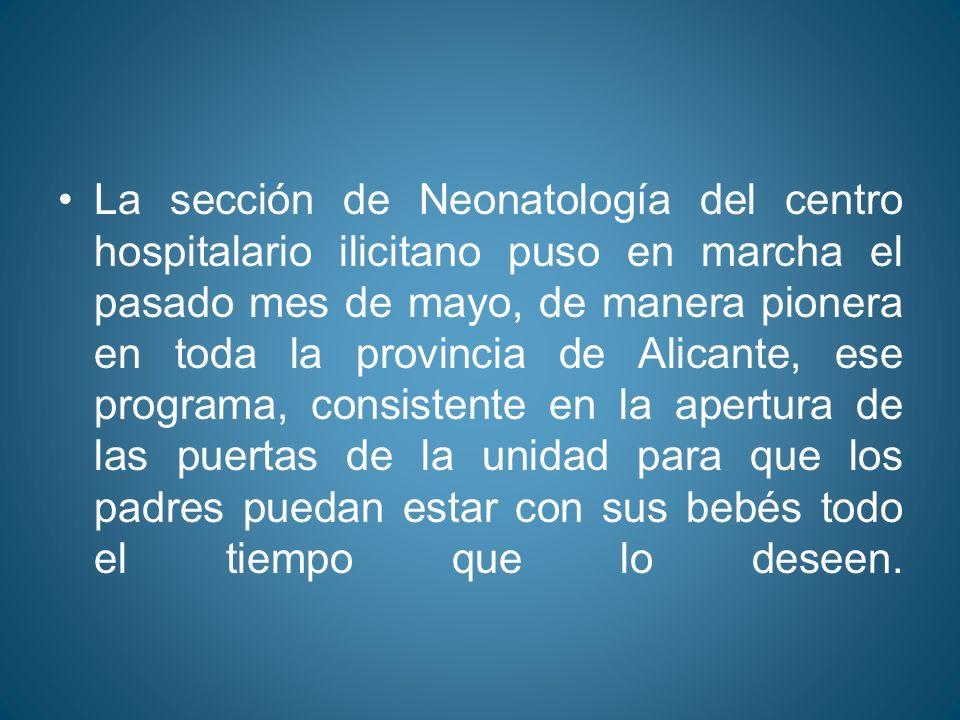 Alicante España Lunes 26 de octubre del 2009 Mas de 200 neonatos se han beneficiado del Programas Puertas Abiertas.