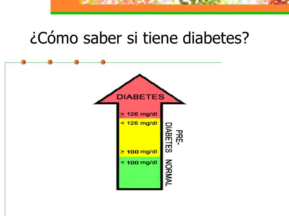 ¿Cómo saber si tiene diabetes?