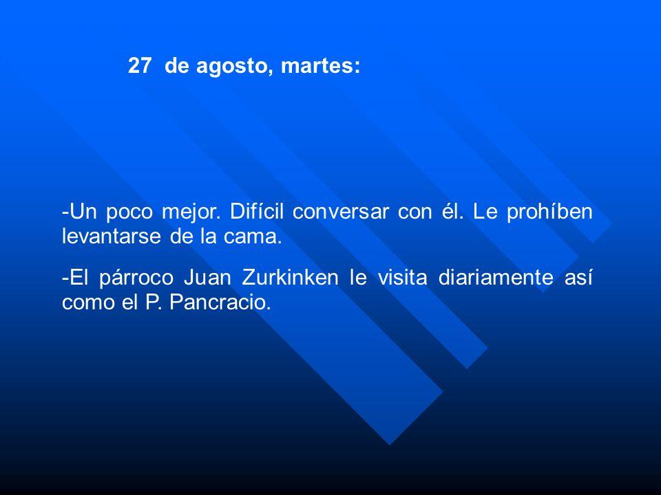 -Pancracio le dice que es el onomástico del P.Magno Wambacher: El P.