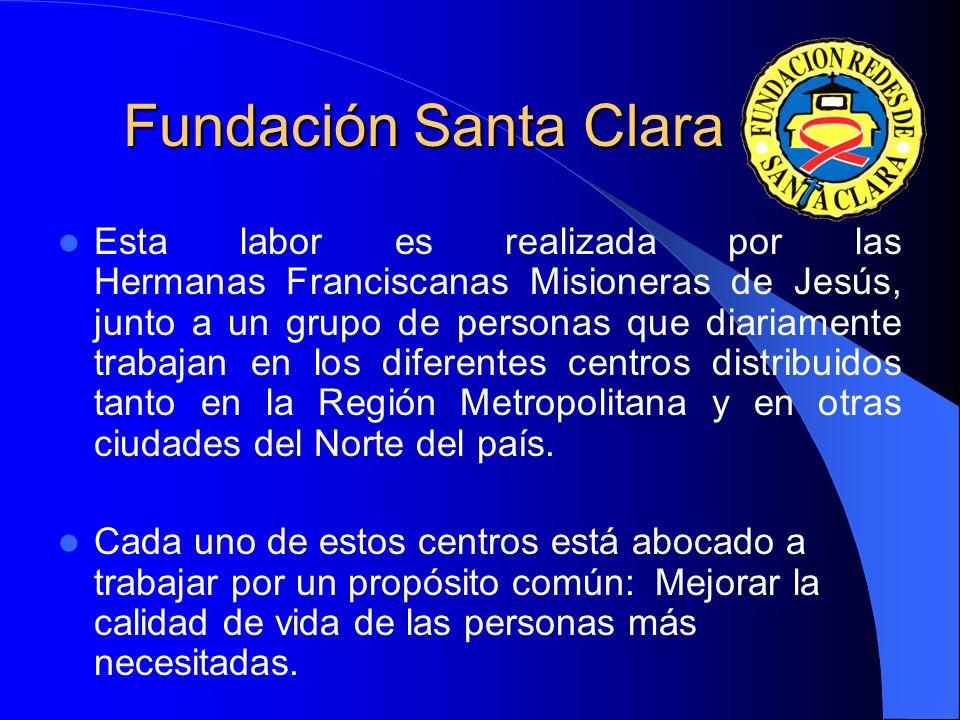 Fundación Santa Clara Desde su constitución, en el año 1996, la Fundación Santa Clara desarrolla una importante labor social, entregando asistencia di