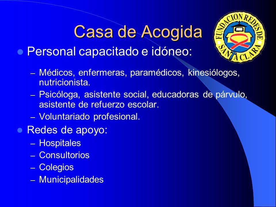 Personal capacitado e idóneo: – Médicos, enfermeras, paramédicos, kinesiólogos, nutricionista.