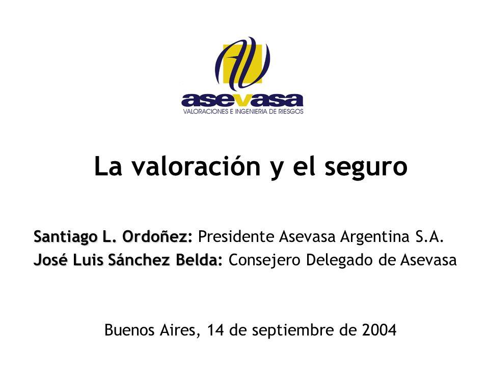 La valoración y el seguro Santiago L.Ordoñez Santiago L.