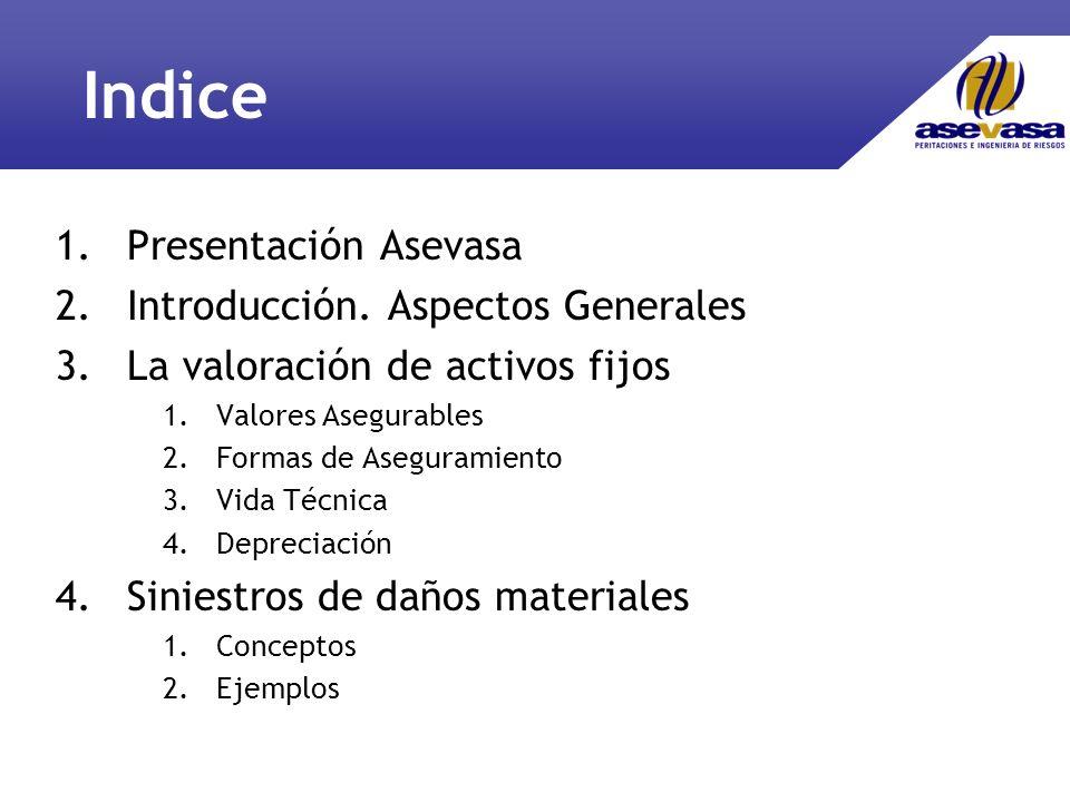 Indice 1.Presentación Asevasa 2.Introducción.