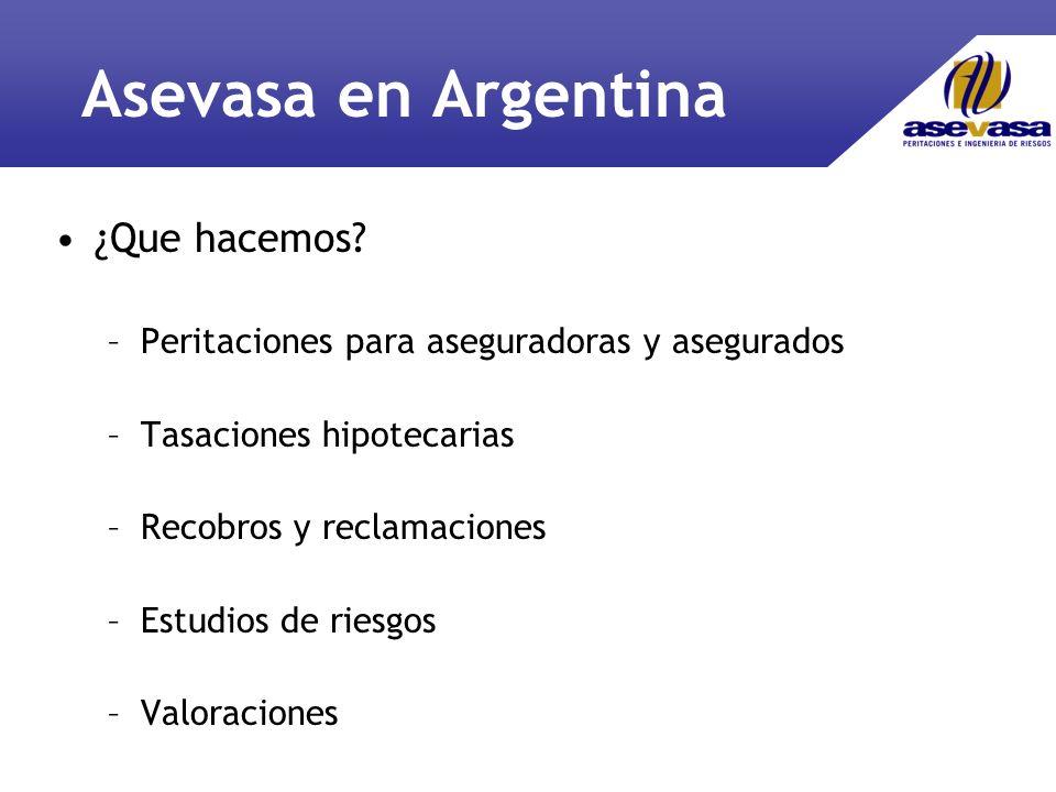 Asevasa en Argentina ¿Que hacemos.