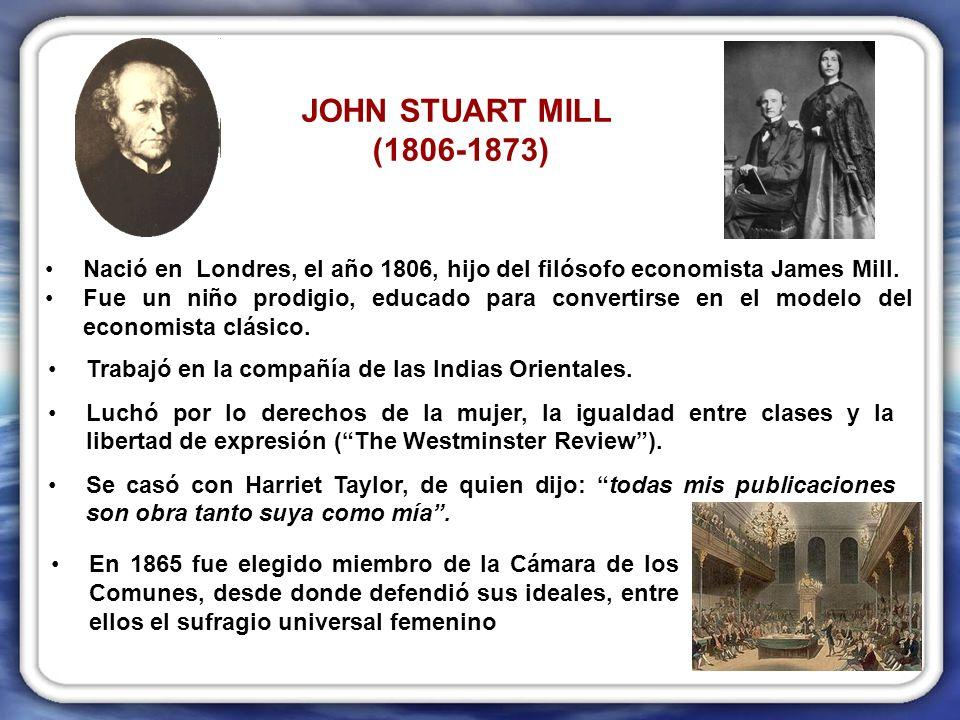 Mill centra el su interés en tres tipos de libertad: –Libertad de conciencia: de pensar y sentir (Libertad interna).