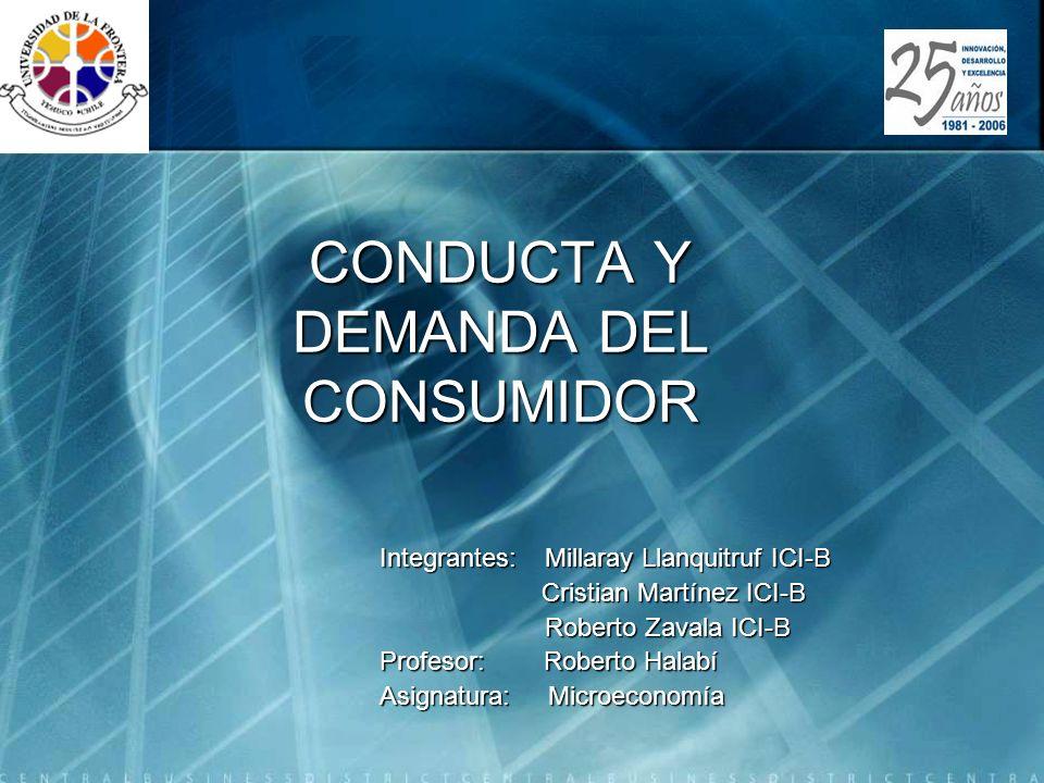 Microeconomía IIS310 Introducción El principal objetivo de este capitulo es analizar la conducta del consumidor ante las variaciones en sus ingresos monetarios y la variación en el precio relativo de un bien determinado.