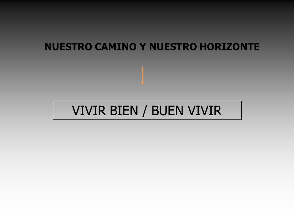 NUESTRO CAMINO Y NUESTRO HORIZONTE VIVIR BIEN / BUEN VIVIR