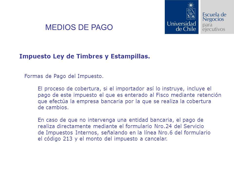 Impuesto Ley de Timbres y Estampillas.Formas de Pago del Impuesto.