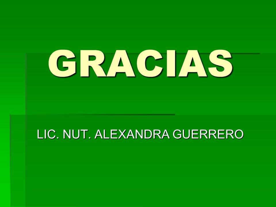 GRACIAS LIC. NUT. ALEXANDRA GUERRERO