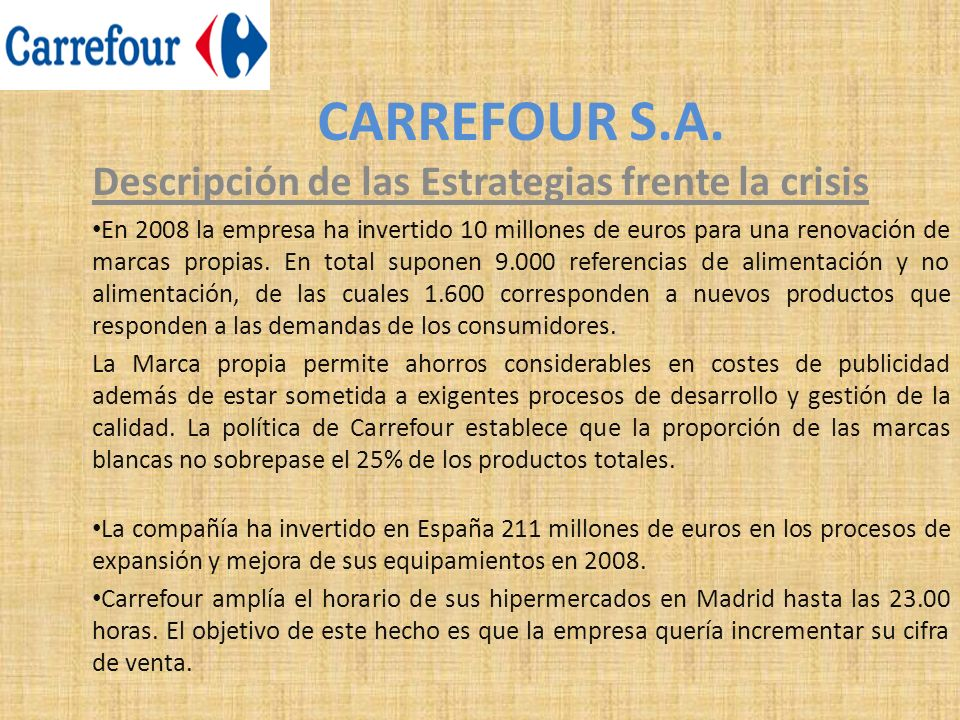 CARREFOUR S.A.