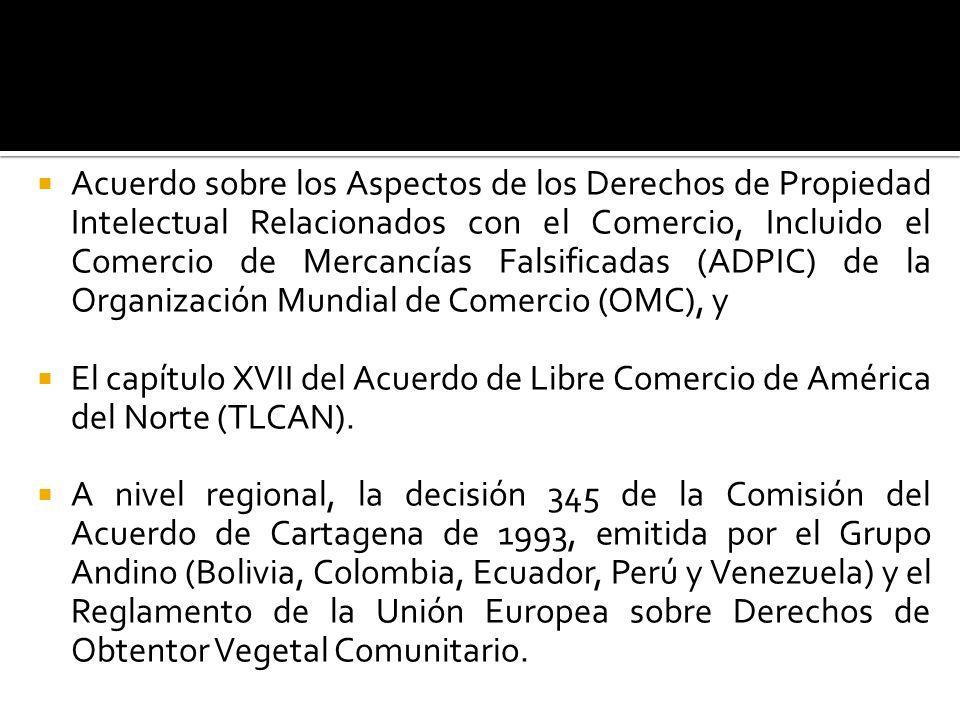 Acuerdo sobre los Aspectos de los Derechos de Propiedad Intelectual Relacionados con el Comercio, Incluido el Comercio de Mercancías Falsificadas (ADP