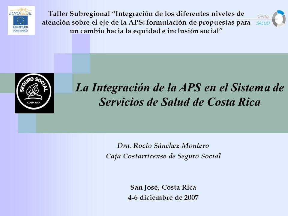 Taller Subregional Integración de los diferentes niveles de atención sobre el eje de la APS: formulación de propuestas para un cambio hacia la equidad