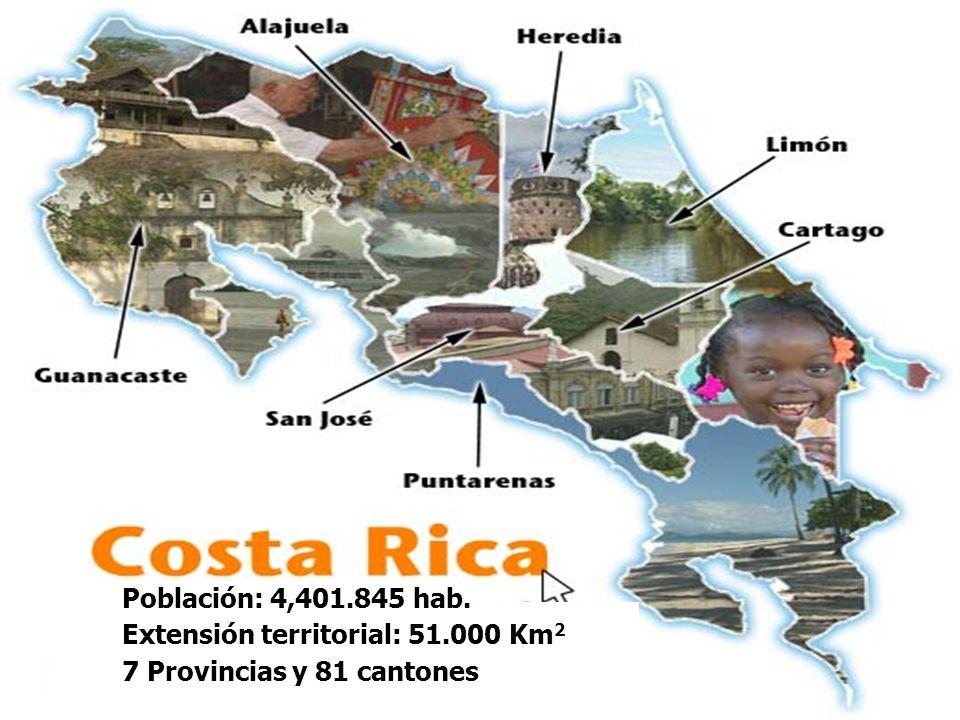 Población: 4,401.845 hab. Extensión territorial: 51.000 Km 2 7 Provincias y 81 cantones