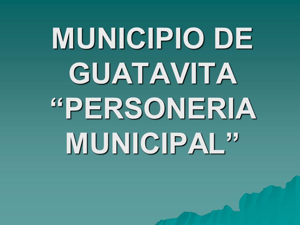 MUNICIPIO DE GUATAVITA PERSONERIA MUNICIPAL