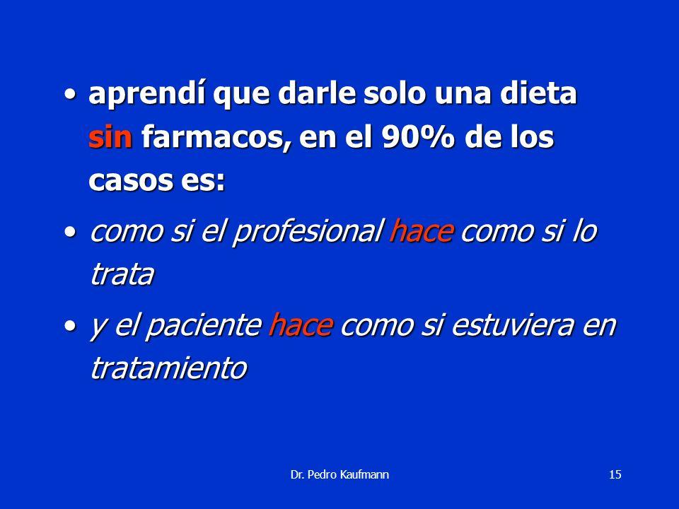 Dr. Pedro Kaufmann14 aprendí que hoy en día en general un flaco no es mas queaprendí que hoy en día en general un flaco no es mas que... un ex gordo..