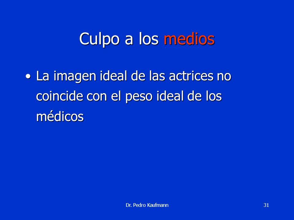 Dr. Pedro Kaufmann30 Culpo a la biología Colecistoquinina insuficienteColecistoquinina insuficiente LeptinoresistenteLeptinoresistente Insulinoresiste