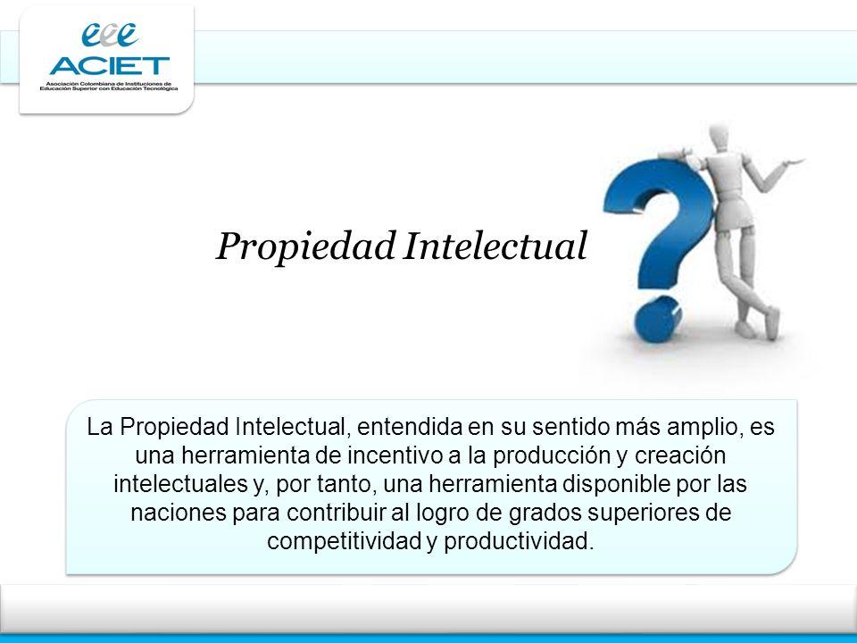 La Propiedad Intelectual, entendida en su sentido más amplio, es una herramienta de incentivo a la producción y creación intelectuales y, por tanto, u