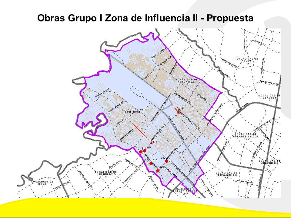 Obras Grupo I Zona de Influencia II - Propuesta