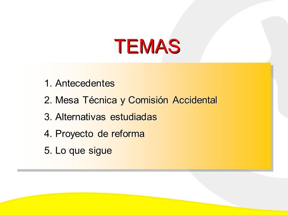 1.Antecedentes 2. Mesa Técnica y Comisión Accidental 3.