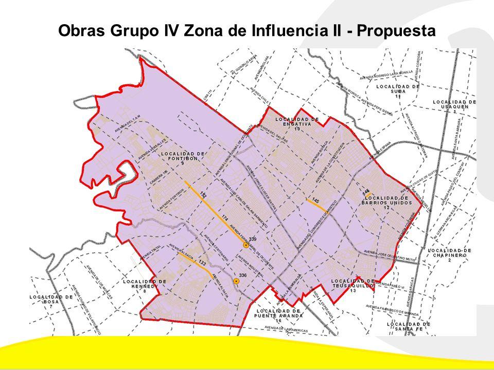 Obras Grupo IV Zona de Influencia II - Propuesta