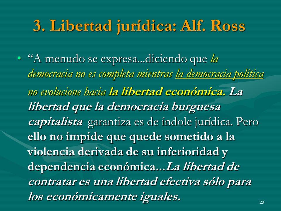 3.Libertad jurídica: Alf.