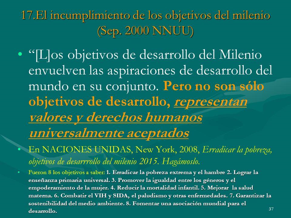 37 17.El incumplimiento de los objetivos del milenio (Sep.
