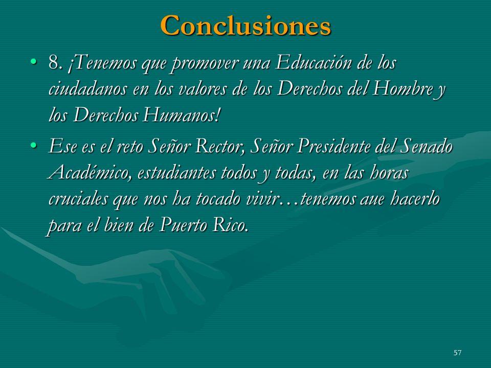 Conclusiones 8.