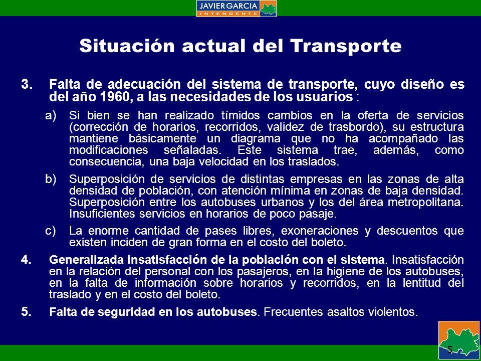 5 Situación actual del Transporte 3.